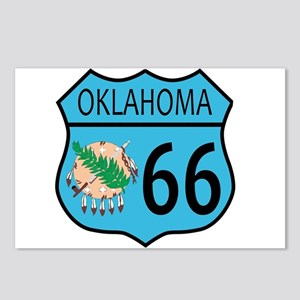 Route 66 Oklahoma sign an Postcards (Package of 8)