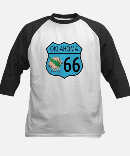 Route 66 Oklahoma sign and Flag Baseball Jersey