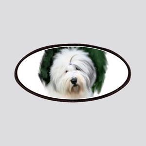 old english sheepdog portrait Patch
