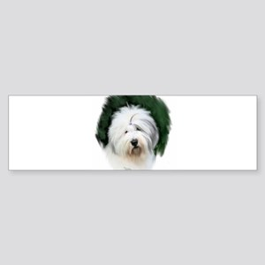 old english sheepdog portrait Bumper Sticker