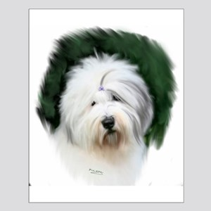 old english sheepdog portrait Posters
