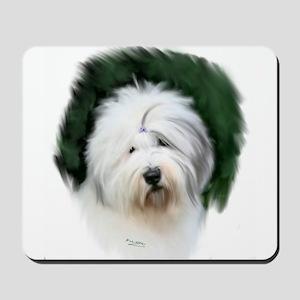 old english sheepdog portrait Mousepad