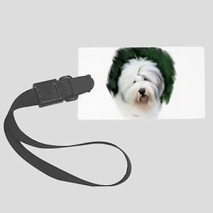 old english sheepdog portrait Luggage Tag