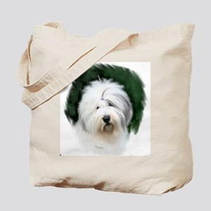 old english sheepdog portrait Tote Bag