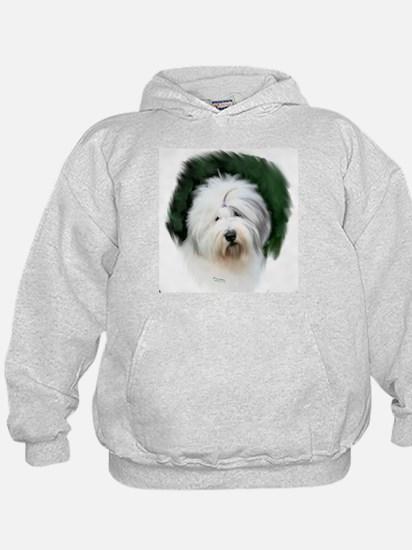 old english sheepdog portrait Hoodie