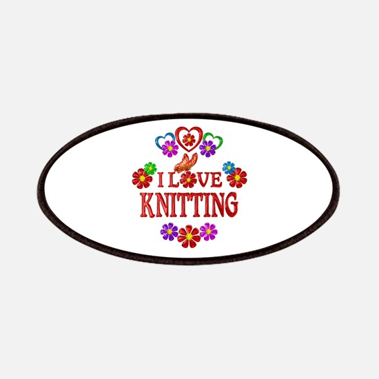 I Love Knitting Patch