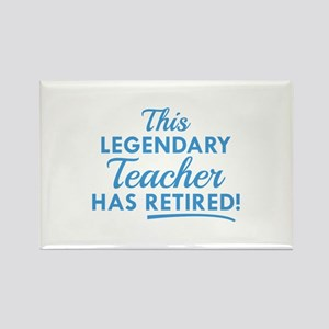 Legendary Retired Teacher Rectangle Magnet