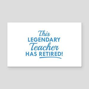 Legendary Retired Teacher Rectangle Car Magnet