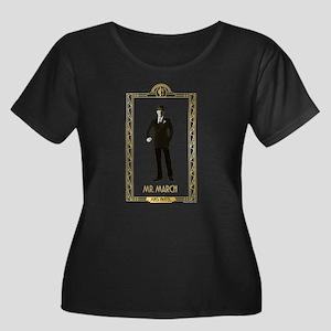 American Women's Plus Size Scoop Neck Dark T-Shirt
