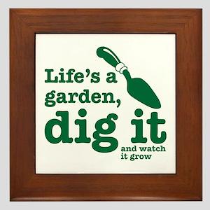 Life's A Garden Framed Tile