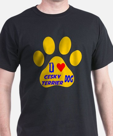 I Love Cesky Terrier Dog T-Shirt