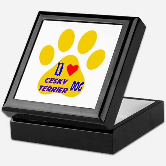 I Love Cesky Terrier Dog Keepsake Box