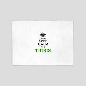 Tigris I cant keeep calm 5'x7'Area Rug