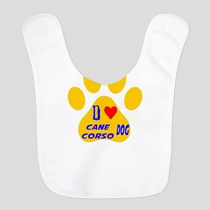 I Love Cane Corso Dog Bib