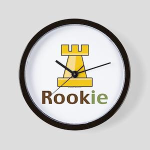 Rook Rookie Chess Piece Wall Clock