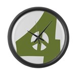 For Peace Large Wall Clock