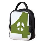 For Peace Neoprene Lunch Bag