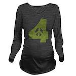 For Peace Long Sleeve Maternity T-Shirt