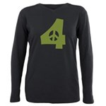 For Peace Plus Size Long Sleeve Tee