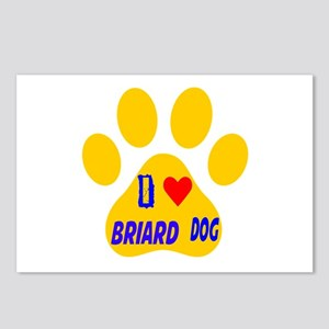I Love Briard Dog Postcards (Package of 8)