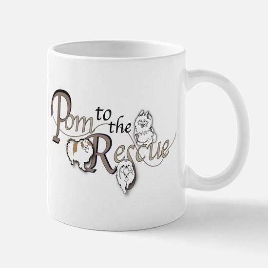 Pom to the Rescue logo Mugs