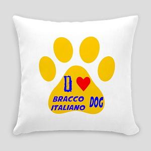 I Love Bracco Italiano Dog Everyday Pillow