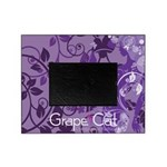 Grape Cat Picture Frame