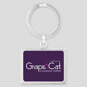 Grape Cat Landscape Keychain