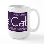 Grape Cat Large Mug