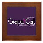 Grape Cat Framed Tile