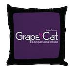 Grape Cat Throw Pillow