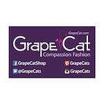 Grape Cat Rectangle Car Magnet