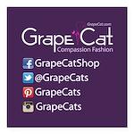 Grape Cat Square Car Magnet 3