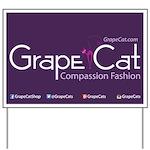 Grape Cat Yard Sign