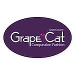 Grape Cat Sticker (Oval 50 pk)