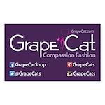 Grape Cat Sticker (Rectangle)