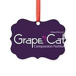 Grape Cat Picture Ornament