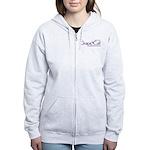 Grape Cat Women's Zip Hoodie