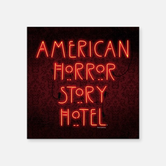"American Horror Story Hotel Square Sticker 3"" x 3"""