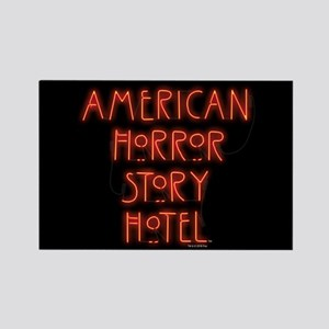 American Horror Story Hotel Neon Rectangle Magnet
