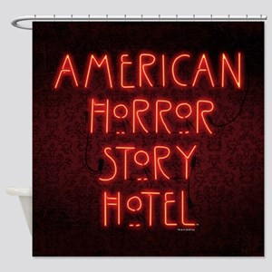 American Horror Story Hotel Neon Si Shower Curtain