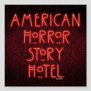 "American Horror Story Ho Square Car Magnet 3"" x 3"""