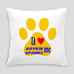 I Love Boykin Spaniel Dog Everyday Pillow