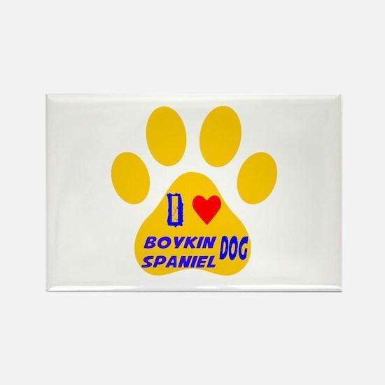 I Love Boykin Spaniel Rectangle Magnet (100 pack)