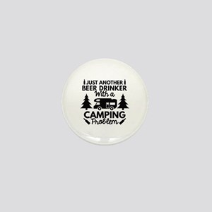 Beer Drinker Camping Mini Button