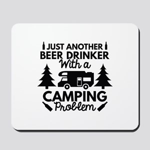 Beer Drinker Camping Mousepad