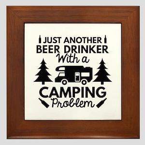 Beer Drinker Camping Framed Tile