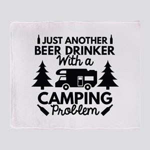 Beer Drinker Camping Stadium Blanket