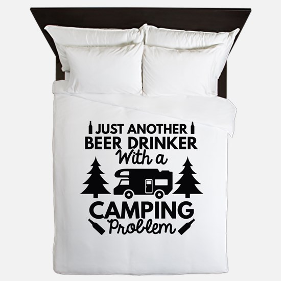 Beer Drinker Camping Queen Duvet