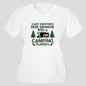 Beer Drinker Camping Women's Plus Size V-Neck T-Sh